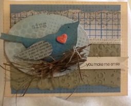 Paper bluebird brings happy thoughts