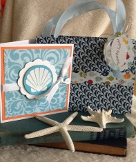 Gift bag and notecard for a special gift.