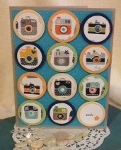 A Father's Day card with die cut circles