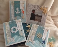 Coordinating picture frame and nautical cards