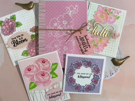 pink cards:box